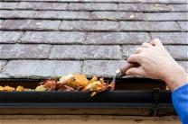 Dachrinnenreinigung, reinigen von Dachrinnen und Abläufen