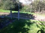 Alter Gartenzaun abgebaut