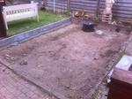 Die Fläche wurde zunächst ausgegraben