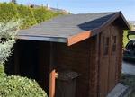 Neues Dach für das Gartenhaus aus Bitumen Schindeln