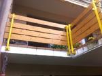 Die neuen Balkonbretter sind montiert