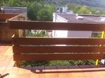 Schick und edel wirken die neuen Balkonbretter